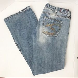 Silver Lola Blue Jeans Embroidery Pockets 30/33